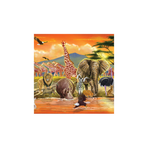Melissa and Doug African Plains Safari Jumbo Floor Puzzle 100pc