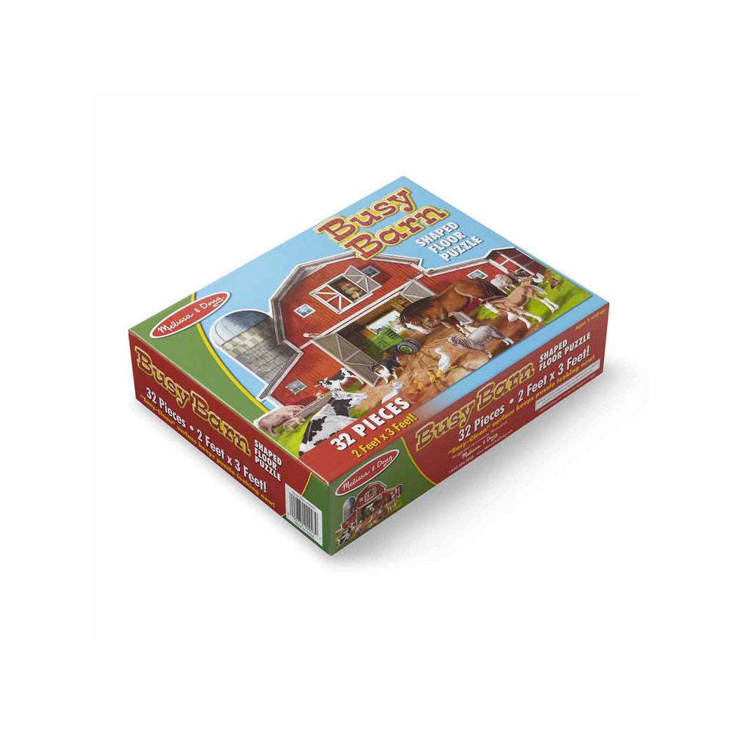 Melissa and Doug Busy Barn Jumbo Floor Puzzle 32pc
