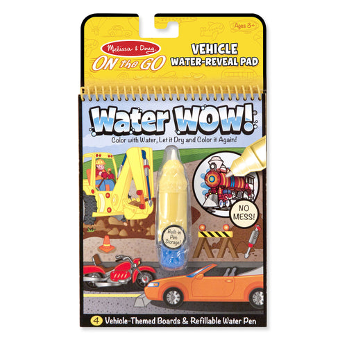 Melissa & Doug Vehicle Water Reveal Pad 2 Pc.