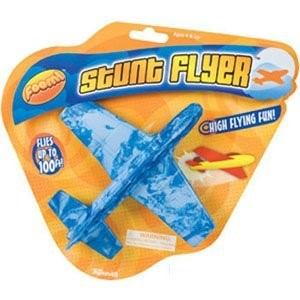 Toysmith 74222 7 in. Stunt Flyer, Assorted Colors