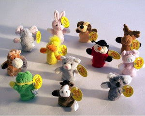 Plush Finger Puppet Assorted