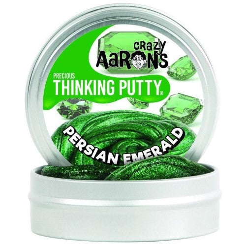 Persian Emerald Precious Gems Crazy Aaron's Thinking Putty Tin 1.6 Oz