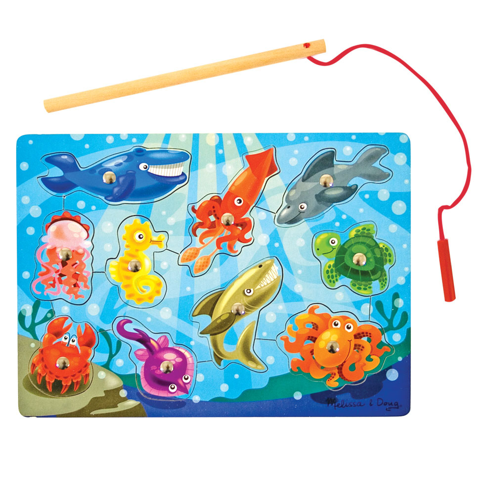 Melissa & Doug Fishing Magnetic 10-Piece Puzzle Game
