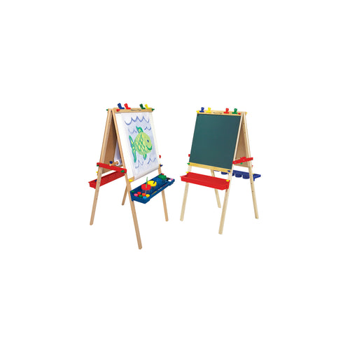Melissa & Doug Deluxe Wooden Standing Art Easel, Wood, Multicolor