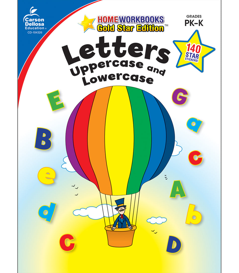 Uppercase and Lowercase Letters PreK-K Workbook