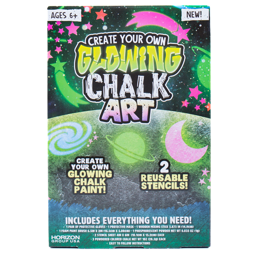 Create Your Own Glowing Chalk Art