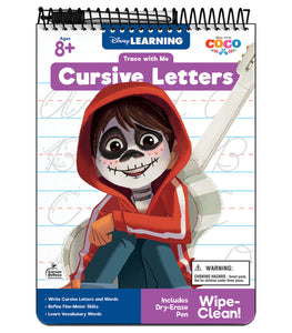 Trace with Me: Coco Cursive Letters Activity Pad