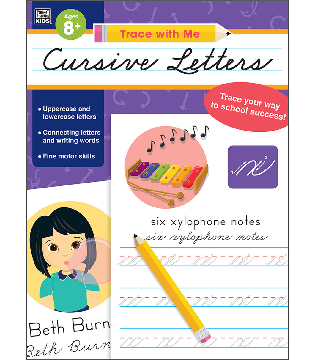 Trace with Me: Cursive Letters Activity Book