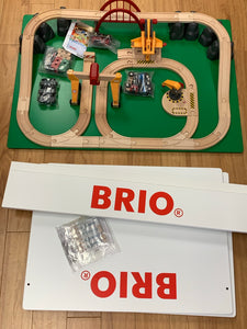 BRIO Train Table with tracks and trains
