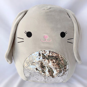 "Squishmallow Sequin Bunny 16"" ASSORTED"