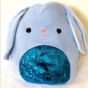 "Squishmallow Sequin Bunny 8"" ASSORTED"