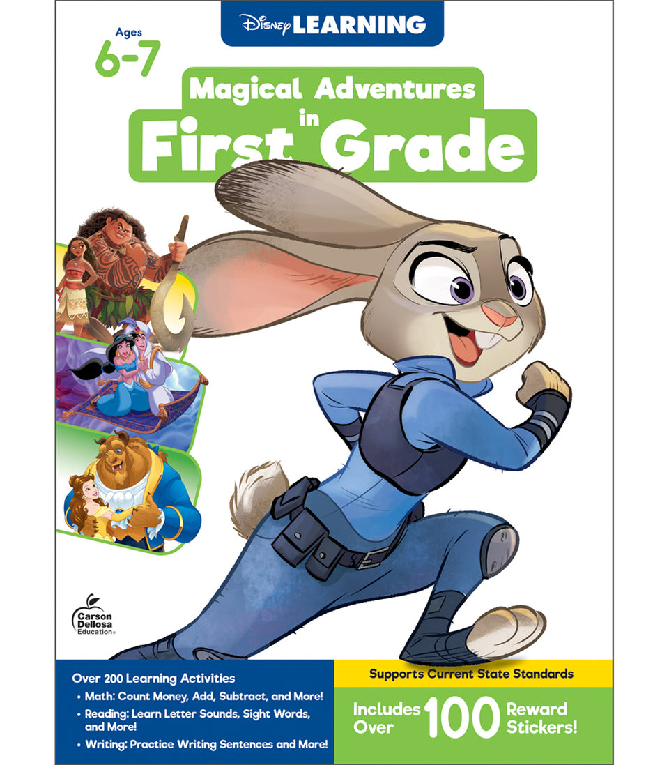 Disney Magical Adventures Workbook - First Grade