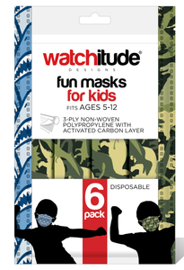 Kids Disposable Masks - 6 pack