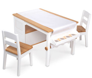 Wooden Art Table & Chair Set