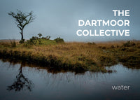Front cover of The Dartmoor Collective 'Water' photozine, showing a hawthorn tree reflected in water on Dartmoor