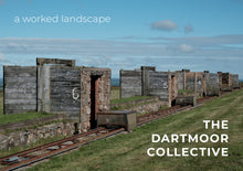 Load image into Gallery viewer, Front cover of 'A Worked Landscape' photozine by The Dartmoor Collective, showing a disued military firing range on Dartmoor