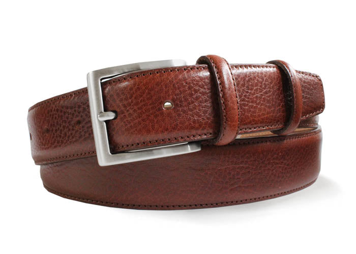 Robert Charles - 1235 Grained Leather Belt in Tan