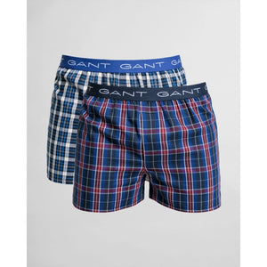 GANT -  2-Pack Tartan/Blue Check Boxer Shorts 902032619