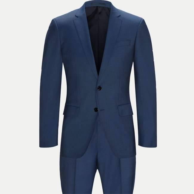 Hugo Boss - Light Blue Slim Fit Wool Suit 50404904