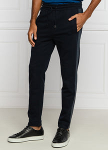 Hugo Boss - LAMONT 32 Navy Blue Jogging Bottoms With Monogram Tape Detail 50436749