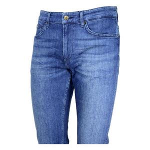 Hugo Boss - DELAWARE3 Slim Fit Mid Blue Jeans in Cashmere Touch Denim 50438747