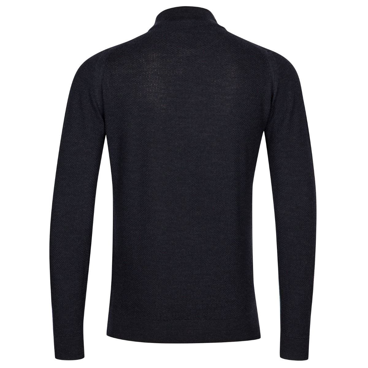 John Smedley - 6SINGULAR Honeycomb Full Zip in Hepburn Smoke