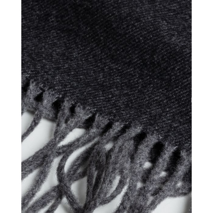 GANT - Charcoal Melange Two Faced Twill Scarf 9920053