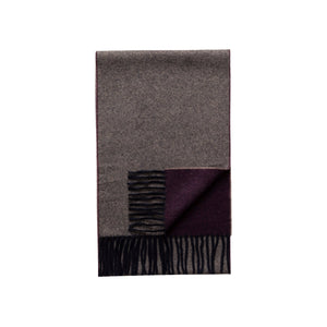 Eton - Purple / Marled Blue Double Sided Wool Scarf A00031897700