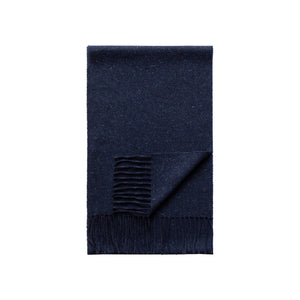 Eton - Marled Blue Wool and Silk Blend Scarf A000326802800
