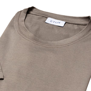 ETON - Cedar Brown Filo di Scozia Cotton T-Shirt A0003289338
