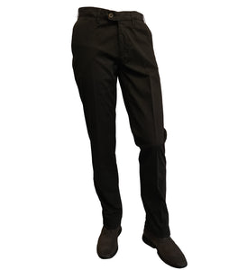 Canali - Black Cotton Stretch Chinos 91633-PT00452-101