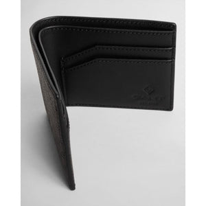 GANT - Black Signature Weave Leather Wallet 9980064