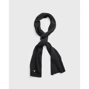 GANT - Black Wool Knit Scarf 9920002