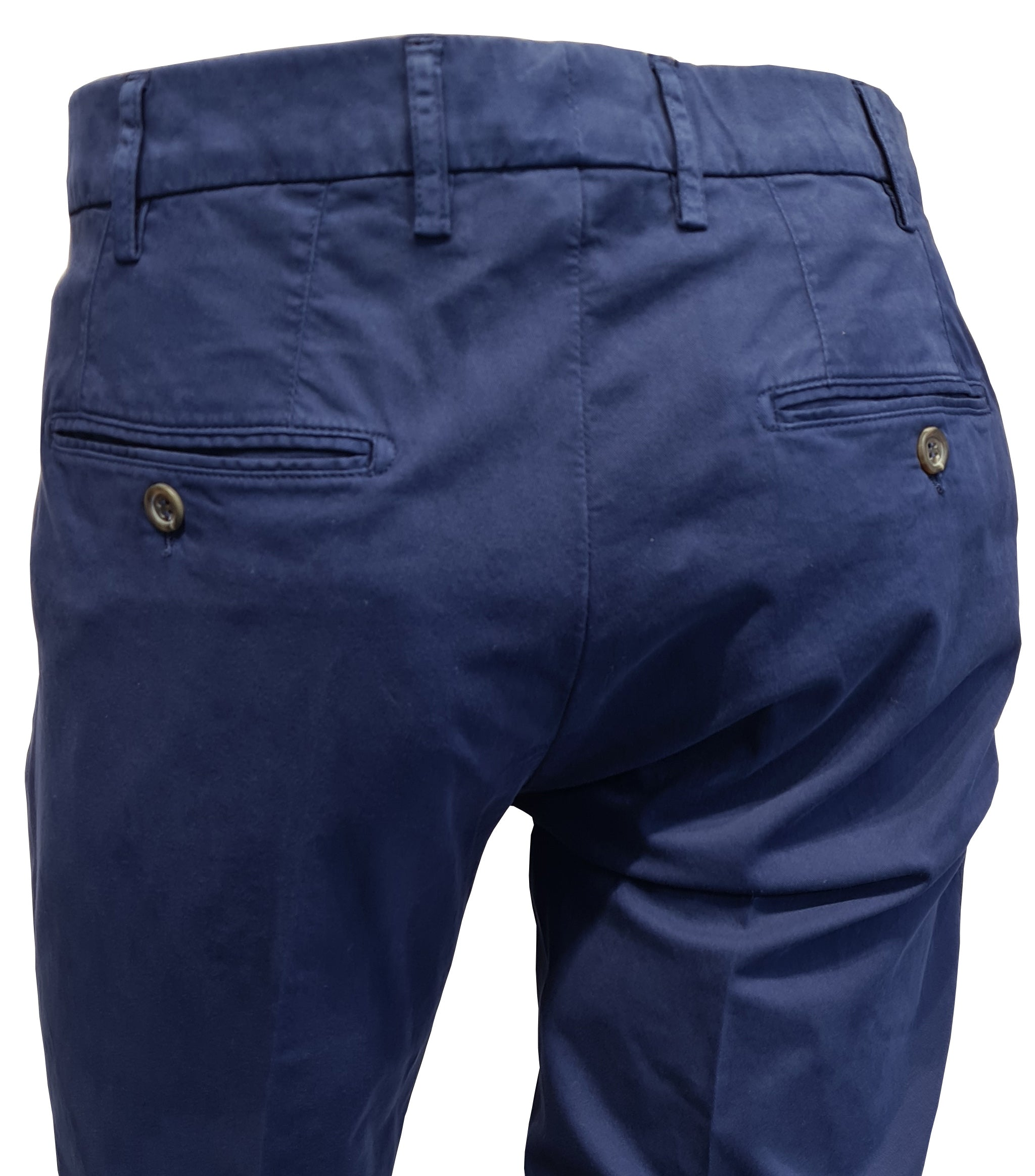 Canali - Blue Cotton Stretch Chinos 91633-PT00452-320