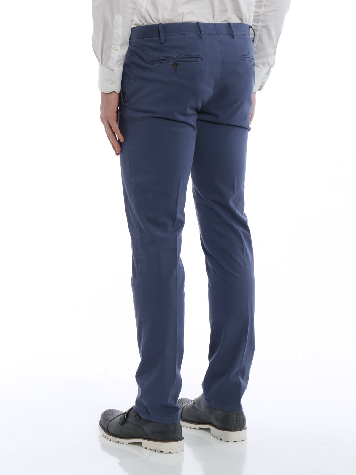 Canali - Cotton Stretch Chinos in Blue