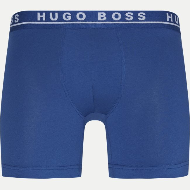 Hugo Boss - Assorted 3-Pack Of Longer Style Boxer Briefs In Stretch Cotton 50325404