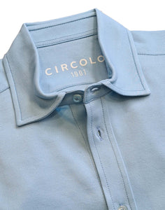 Circolo 1901 - Cielo Blue Piqué Stretch Cotton Shirt CN2968