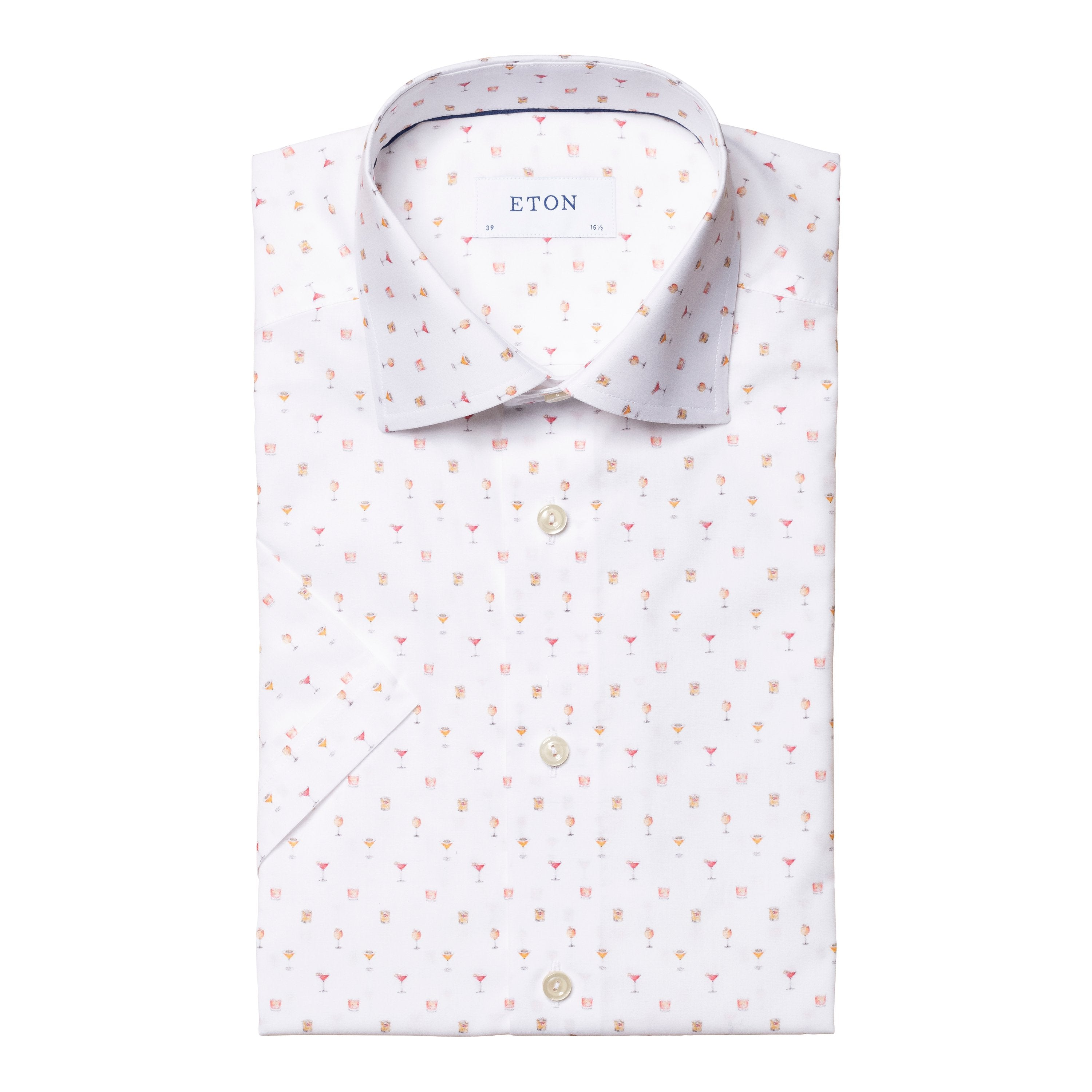 ETON - Cocktail Print Short Sleeve SLIM FIT Shirt - 10000226345
