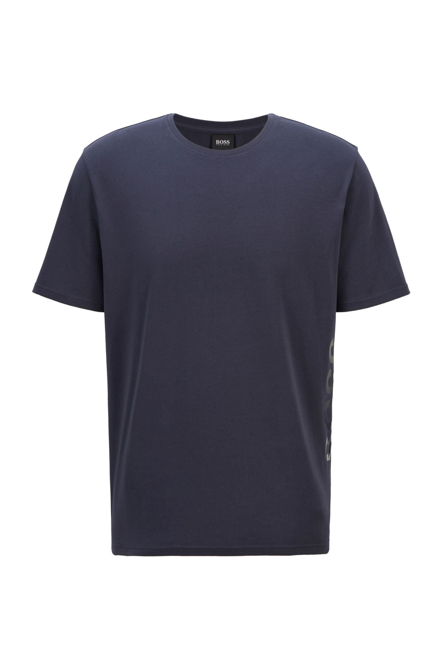 Hugo Boss - IDENTITY T_SHIRT Dark Blue Stretch-Cotton Pyjama T-shirt with Vertical Logo 50442645