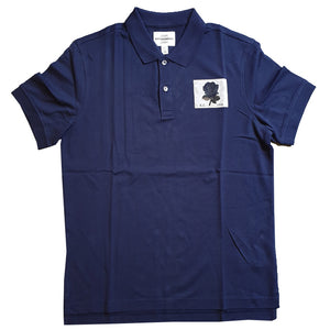 Kent & Curwen - Small Rose Polo Shirt in Deep Blue K4100041R4-39