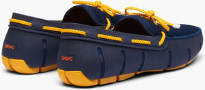 SWIMS - Braided Lace Loafer In Navy / Gold Fusion