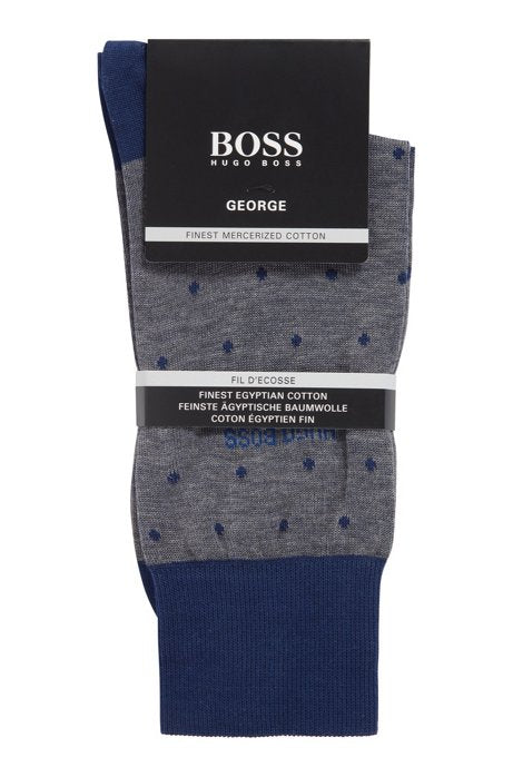 Hugo Boss - George Dot - Mercerised Cotton Socks with Dot Pattern