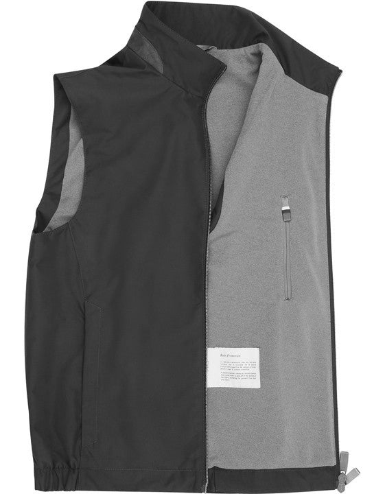 Canali - Black Water Repellent Vest With Suede Details O40548