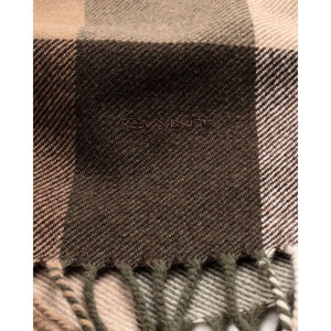 GANT - Java Brown Multicheck Wool Scarf 9920051