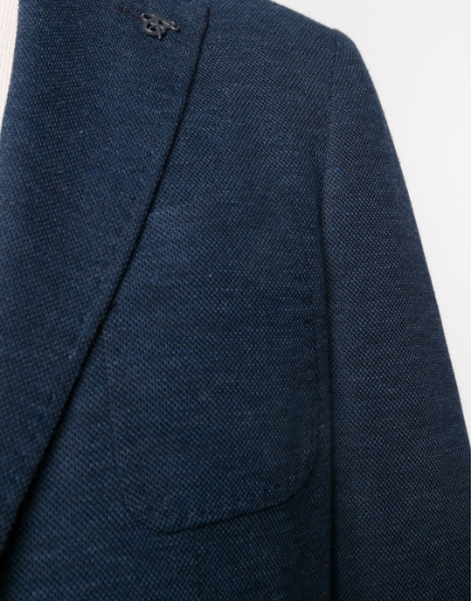 Canali - Slim Fit Jersey Blazer in Dark Blue