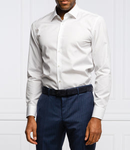 Hugo Boss - JORAS White Slim Fit Shirt In Easy-Iron Cotton 50439129