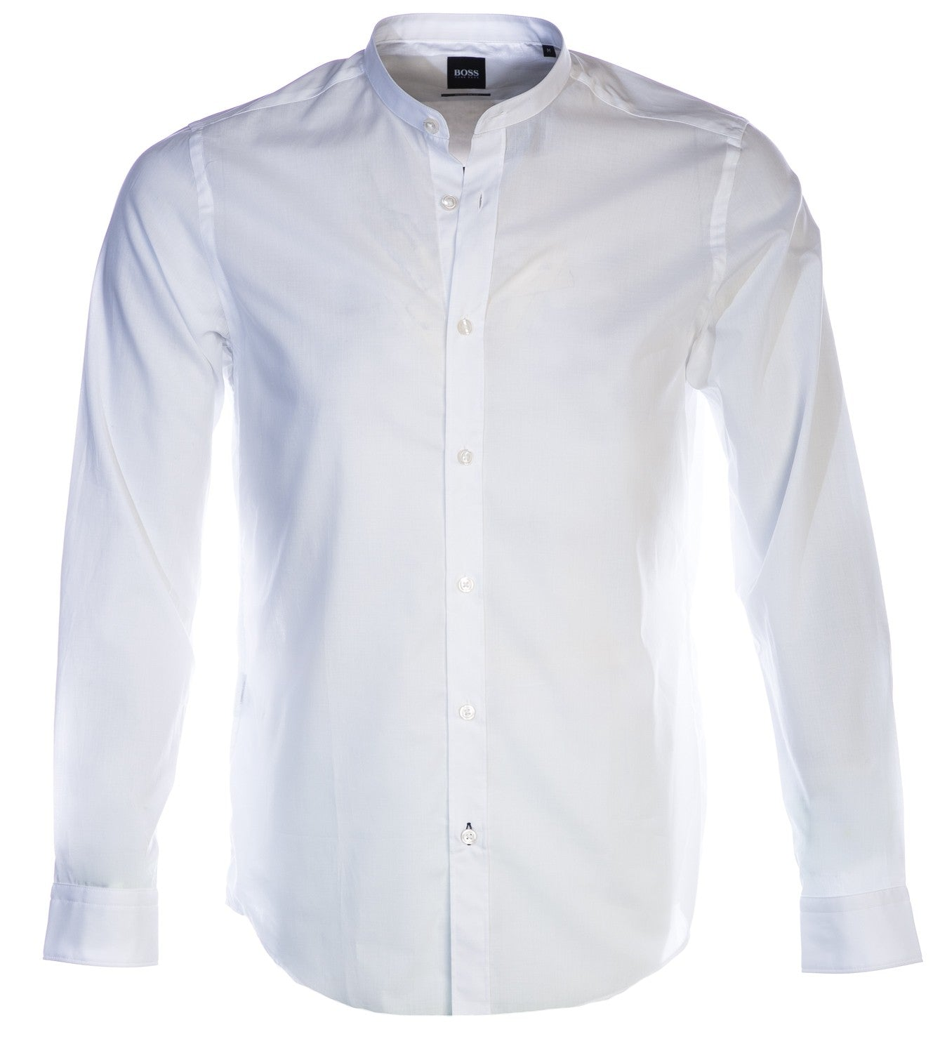 Hugo Boss - Lamberto - Regular Fit Band Collar Shirt in White