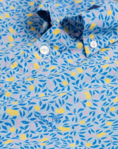 GANT  - Regular Fit Short Sleeve Lemonade Print Shirt in Hamptons Blue