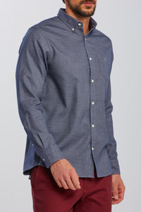 GANT - Marine Blue Melange Dobby Regular Fit Shirt 3062700