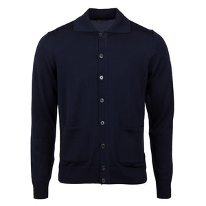 Stenstroms - Navy Blue Merino Wool Cardigan 420102 1355